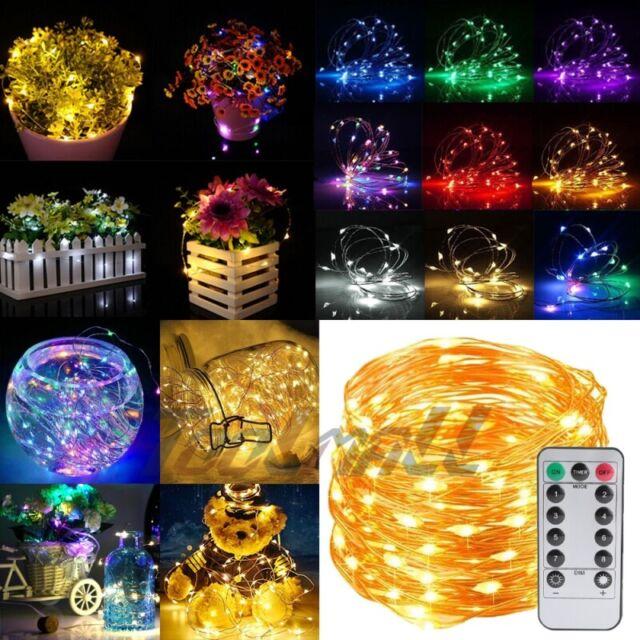 50//100 LED USB Copper Wire Fairy String Lights X/'mas Tree Party Decor w//Remote