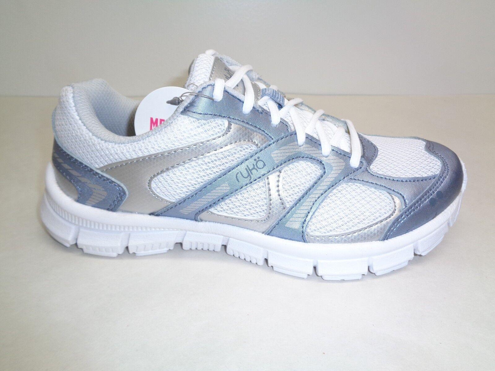 Ryka Größe 9 W WIDE HARMONY SMT Memory Foam WEISS Blau Sneakers NEU Damenschuhe Schuhes