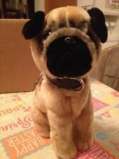 Puppy Club PC Tag Pug Puppy Pooch Beanie Stuffed Plush Puppy Dog Very Rare New