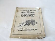 Allis Chalmers 70 80 Series Mounted Plows 12 14 16 Operation Amp Parts Manual