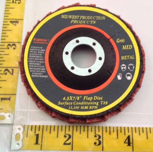 """Premium 4.5/""""x7//8/"""" Medium Grit Surface Conditioning T29 Flap Discs 3 discs"""