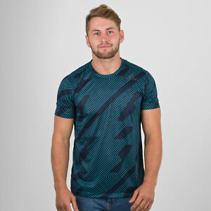 adidas Mens FreeLift Climachill Short Sleeve Training T-Shirt Blue Top Sports