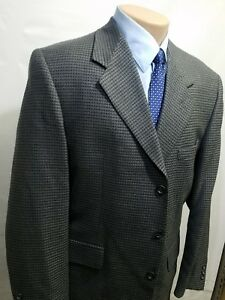 DI-SILVER-MEN-039-S-SPORT-COAT-100-PURE-WOOL-WAFFLE-TEXTURE-42R-3-BUTTON-COLOMBIA