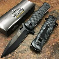Master Usa Rescue Hunting Carbon Fiber Spring-assisted Folding Pocket Knife