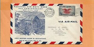 C23 Primer Vuelo Middletown Conn May 15,1938 20th Anniv Nacional Aire Semana