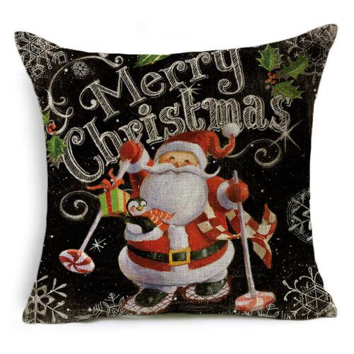 Christmas Series Pillow Case Cotton Linen Pillows Cushion Cover Throw Home Decor