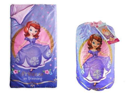 Disney Licensed Camping Slumber Sleeping Bag Kids Boys Girls w// Carry Drawstring