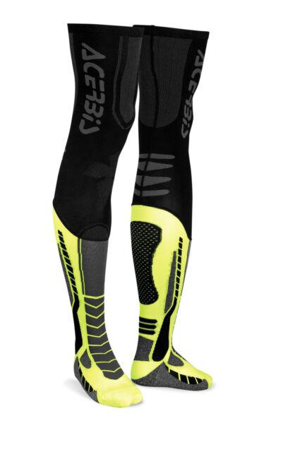 CALZA X-LEG PRO NERO GIALLO  ACERBIS SIZE L/XL