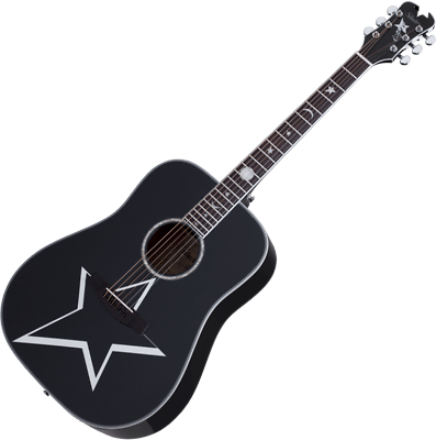 Acoustic Electric Guitars Schecter Robert Smith Rs-1000 Busker Acoustic Guitar Gloss Black Matching In Colour