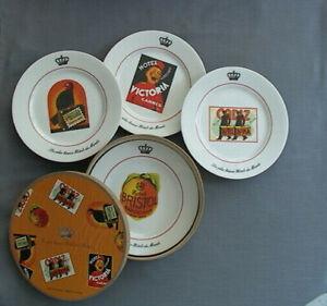 Vintage Hotel Plates - Les plus beaux Hotels du Monde - Set of 4 Dishes