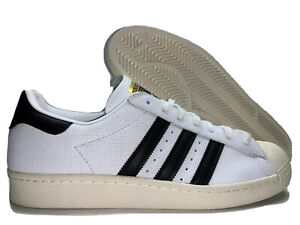 Details about Adidas Superstar 80s Shoes Retro Sneaker White Black Chalk Gold [BZ0144]