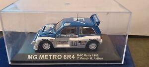 IXO-1-43-MG-METRO-6R4-RAC-RALLY-1985-NEUF-EN-BOITE