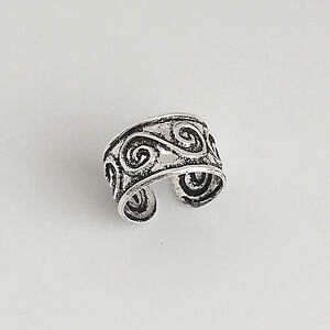Spiral-Ear-Cuff-Earring-925-Sterling-Silver-No-Piercing-Clip-On-Climber-NEW
