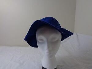 Vintage Doeskin Wool Felt Blue Hat Bollman Hat Co. Women s Derby ... f80b5060bf1