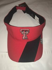 6e4c51db666 Texas Tech Red Raiders Under Armour Renegade Accent Visor Cap Hat ...