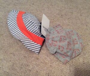 Baby-Boys-M-amp-S-2-Pack-Mixed-Sun-Hats-Up-To-1-Month-BNWT
