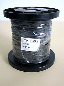 500m SCHALTDRAHT KUPFERDRAHT SPULE YV 1x 0,5/0,9 SCHWARZ | eBay