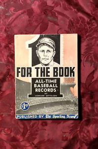 RARE-FOR-THE-BOOK-All-Time-Baseball-Records-Leonard-Gettelson-Sporting-News-1953