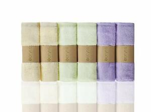 Bamboo Washcloths (6-Pack) -Baby Washcloth Ultra-Soft & Absorbent Towels