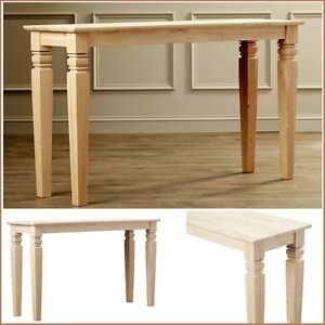 Image Is Loading Accent Console Table Rustic Narrow Unfinished Wood Legs