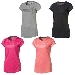 Puma-senora-active-essential-ess-No-1-logotipo-Heather-W-te-T-Shirt