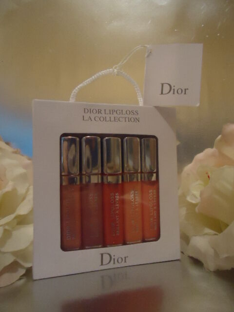 Gift Wrapped DIOR LIP GLOSS Box Set 5 x 5ml Sheer Nude Minis IDEAL FOR TRAVEL