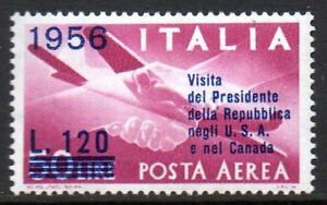 "Italy - 1956 Presidential visits to USA and Canada Mi. 962 MNH - Enschede, Nederland - Italy - 1956 Presidential visits to USA and Canada Mi. 962 MNH Click the button below to view more Italy lots from our extensive offerings. After clicking select ""Italy"" in the blue side-bar on the left. Our lots start at just €0,2 - Enschede, Nederland"