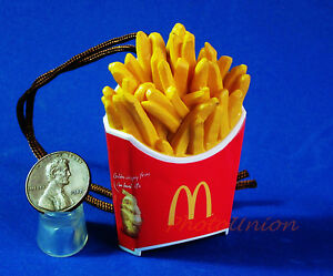 Mcdonald S Food Figure Statue Toy Display Cartoon Diorama Model