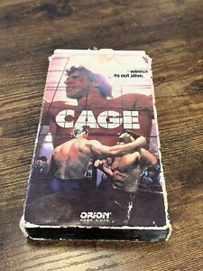 Cage VHS Movie Lou Ferrigno ~ Pre-MMA UFC Cage Fighting ~ HTF OOP RARE