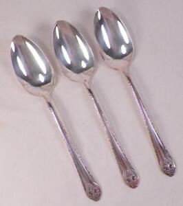 4 Oneida Camille Teaspoons Silverplate 1937 Silver Plate Vintage Floral Teaspoon