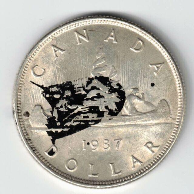 CANADA 1937 VOYAGEUR SILVER DOLLAR KING GEORGE VI CANADIAN SILVER COIN