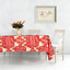 miniature 15 - Rectangle Rond Noël Rouge Nappe polyester Table Nappe Festive Motif
