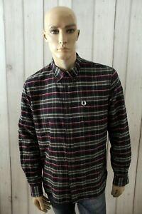 FRED-PERRY-Camicia-Uomo-Shirt-Cotone-Chemise-Maglia-Camisa-Blusa-Taglia-XL