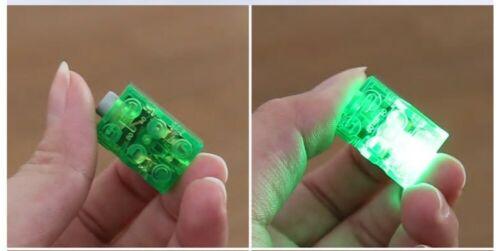 BUMSTORE CUSTOM MINECRAFT STYLE 2X3 LIGHT BRICK GREEN * LEGO TECHNIC AXLE
