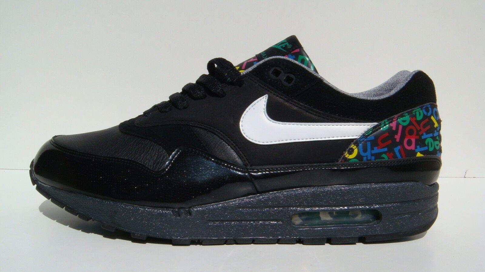 Nike Air Max 1 Premium 10 11 Rare 2007 Alphabet 309717 012 Atmos B OG 90 QS DS