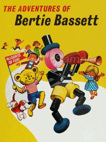 VINTAGE THE ADVENTURES OF BERTIE BASSETT LIQUORICE ALLSORTS A3 POSTER PRINT