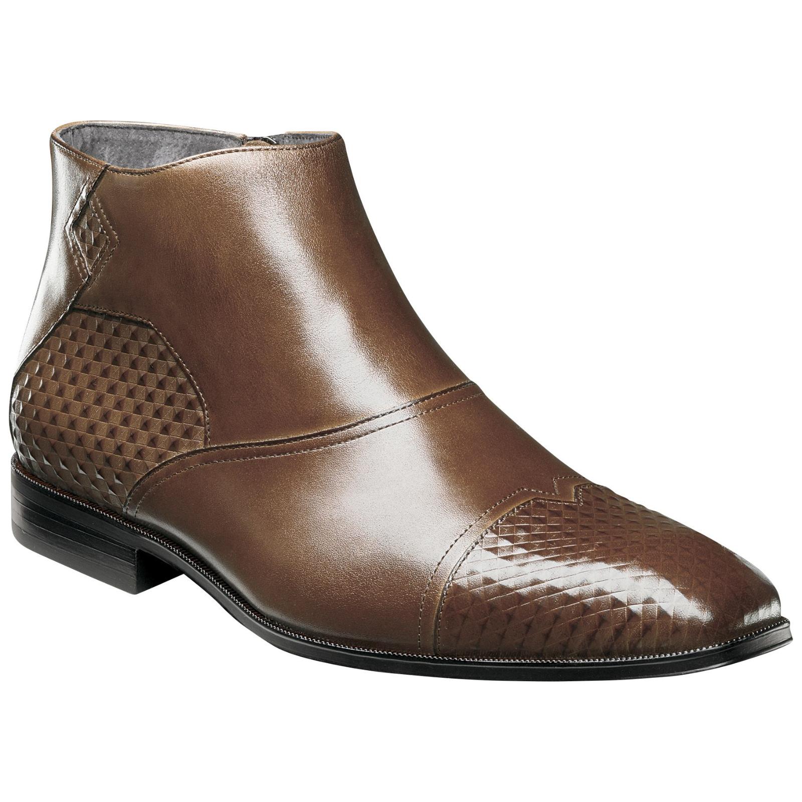 Stacy Adams Mens Faramond Boot Cognac Size 13  NJBOE-413