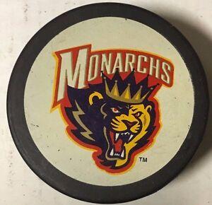 1995 Carolina Monarchs Souvenir Hockey Puck AHL