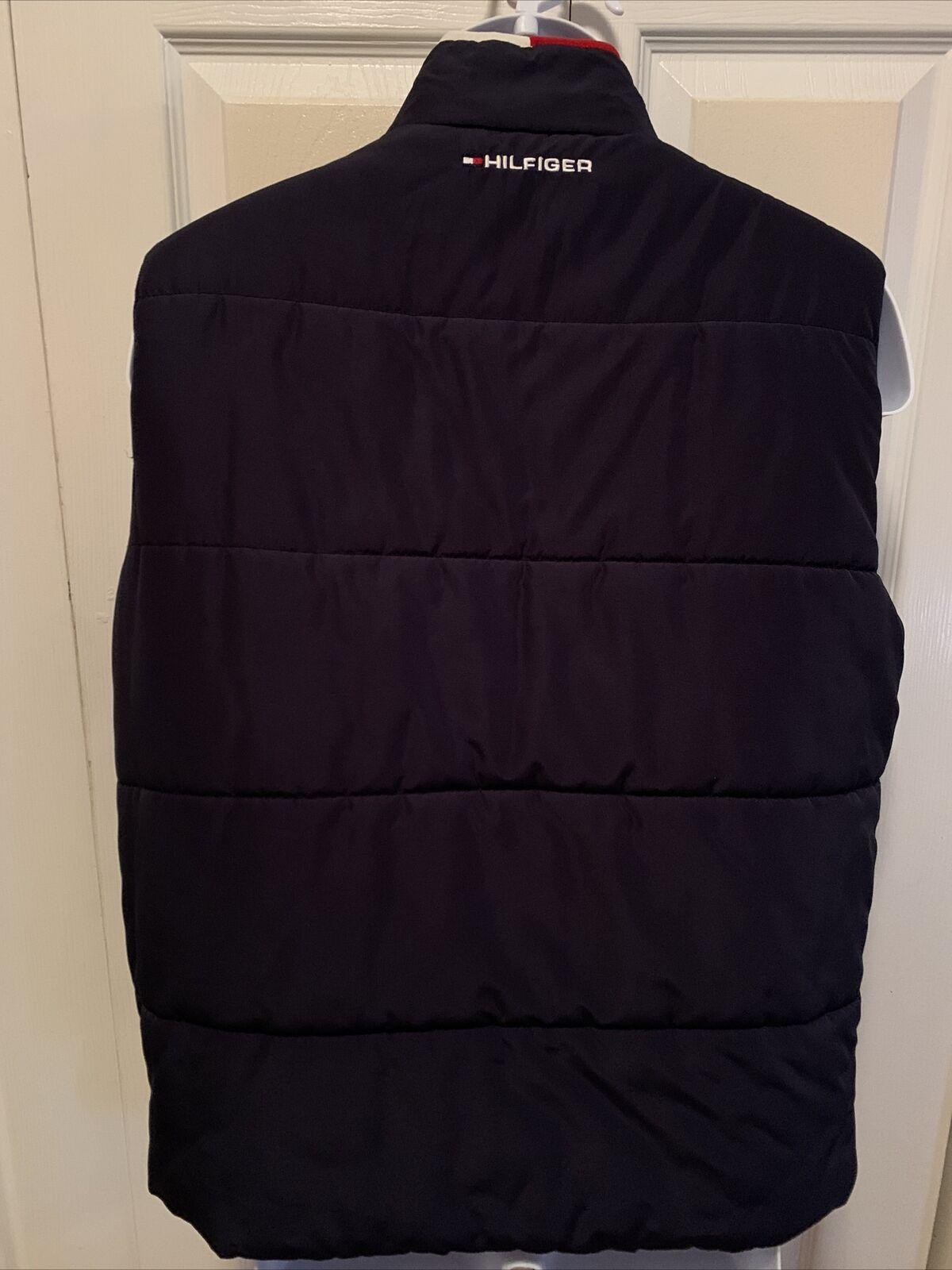 Tommy Hilfiger Mens Reversible Puffy Vest Blue/Wh… - image 2