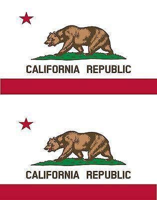 set of 2x sticker vinyl car bumper decal macbook flag california usa american