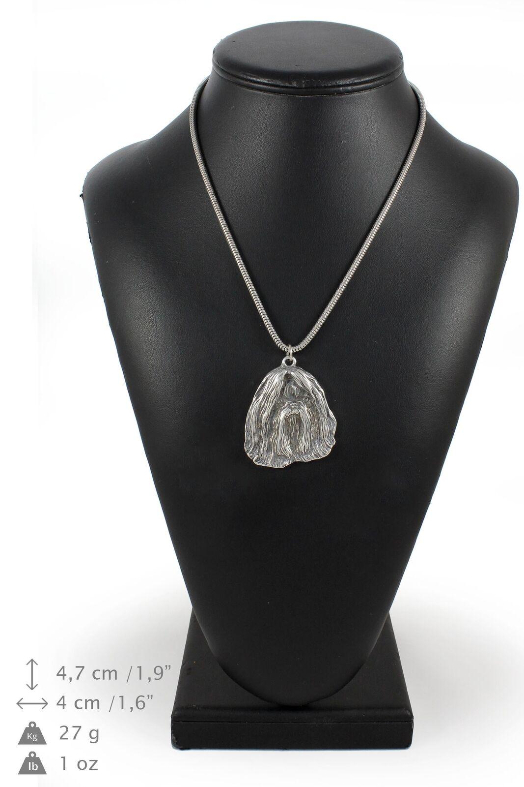 Shih Tzu - silver plaqué collier sur une cordon en silver Art Dog FR