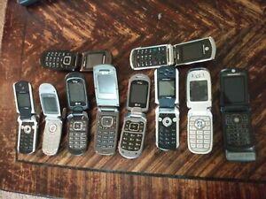 Vintage Cell Phone Lot Flip Phones Ebay