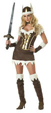 California Costume Sexy Viking Vixen Adult Costume Warrior Size Large 10-12