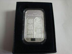 2  oz .999 fine 10 ten commandments silver bullion round coin
