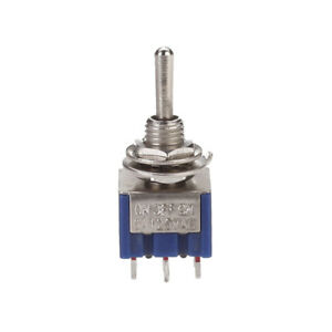 Details about On-Off-On 3-Way Mini Toggle Switch 6 Pin 6A 125VAC for on