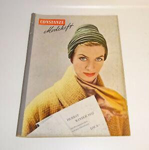 Constanze Modeheft Herbst / Winter 1952 Schnittmusterbogen !