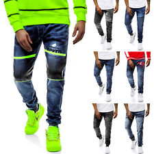 OZONEE Herren Freizeit Jogger Jeans