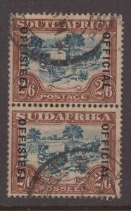 South-Africa-1931-2-6d-bi-lingual-pair-OFFICIAL-overprint-sg-011-Cv-190