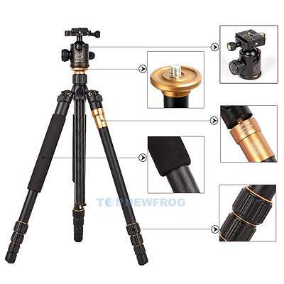 Q999 Professional SLR Camera Tripod Monopod & Ball Head Portable Compact Travel