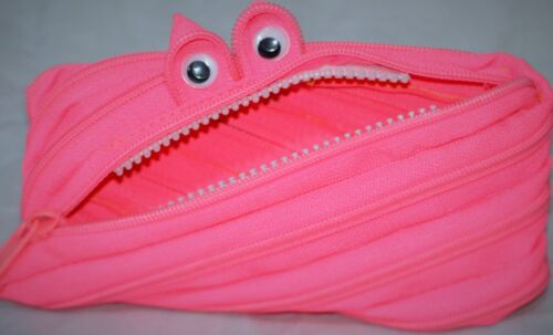 Single Zip small Pencil case 3D Eyes makeup pouch school stationary,money col